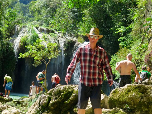 Matt Hendrickson enjoying his visit to Semuc Champey in Guatemala